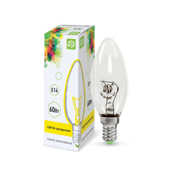 Лампа накал.СВ В35 60 Вт 220В Е14 ПР ASD