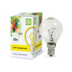 Лампа накал. ШР P45 40Вт 220В Е14 ПР ASD
