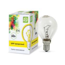 Лампа накал. ШР P45 60Вт 220В Е14 ПР ASD