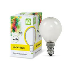 Лампа накал. ШР P45 40Вт 220В Е14 МТ ASD