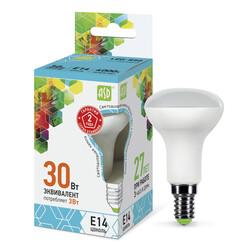 Лампа светодиодная LED-R50-standard 3.0Вт 220В Е14 4000К 250Лм ASD