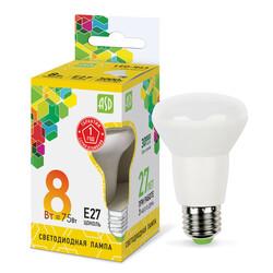 Лампа светодиодная LED-R63-standard 8Вт 220В Е27 3000К 650Лм ASD
