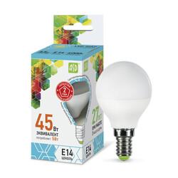 Лампа светодиодная LED-ШАР-standard 5Вт 230В Е14 4000К 450Лм ASD