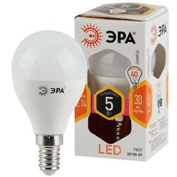 Лампа светодиодная  LED smd P45-5w-827-E14 ЭРА