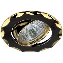 Светильник KL12A GU/G  MR16,12V,50W черный металл/золото 623992 ЭРА