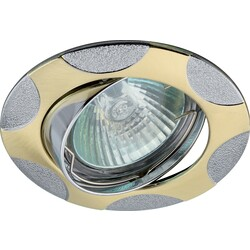 Светильник KL24A SG/CH  лит пов пятна MR16,12V,50W сатин золото/хром 624883 ЭРА