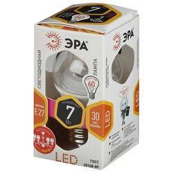 Лампа светодиодная  LED smd P45-7w-827-E27 Clear ЭРА