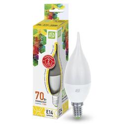 Лампа светодиодная LED-СВЕЧА на ветру-standard 7.5 Вт 160-260В Е14 3000К ASD