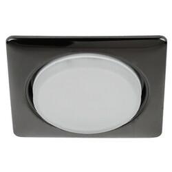 Светильник KL71 BK под лампу  Gx53 квадр.,220V, 13W,черный металл  ЭРА