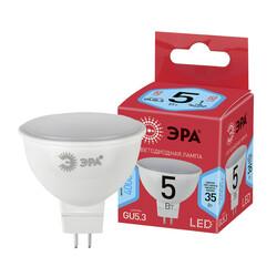 Лампа светодиодная  LED smd MR16-5w-840-GU5.3 ECO ЭРА