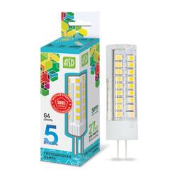 Лампа светодиодная LED-JC-standard 5Вт 12В G4 4000К 450Лм  ASD