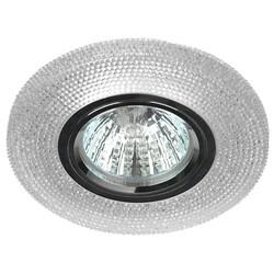 Светильник DK LD1 WH  декор cо светодиодной подсветкой, прозрачный  ЭРА