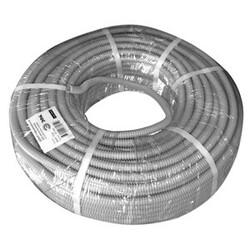 Труба гофрированная  ПВХ d 32мм с зонд. легкая 50м (серый) ЭРА