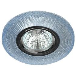 Светильник DK LD1 BL  декор cо светодиодной подсветкой (3W), голубой  ЭРА