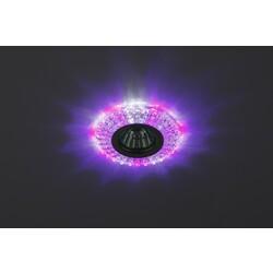 Светильник DK LD2 SL/WH+PU декор c белой светодиодной подсветкой (3W), прозрачный ЭРА