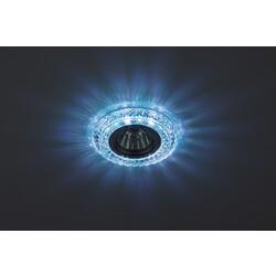 Светильник DK LD3 SL/WH+BL  декор cо светодиодной подсветкой( белый+голубой) (3W), прозрачный ЭРА