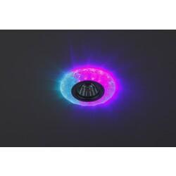 Светильник DK LD6 BL/WH декор cо светодиодной подсветкой( белый+фиолетовый) (3W), голубой ЭРА