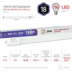 Лампа светодиодная  LED smd T8-18w-865-G13 1200mm ЭРА