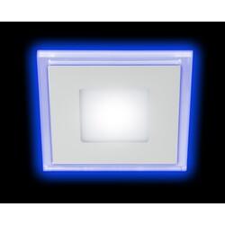 Светильник светодиодный LED 4-9 BL  квадратный c cиней подсветкой LED 9W 540LM 220V 4000K ЭРА