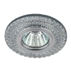 Светильник DK LD3 SL/WH   декор c белой светодиодной подсветкой, прозрачный (50/140 ЭРА
