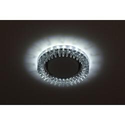 Светильник DK LD20 SL/WH  декор cо светодиодной подсветкой Gx53, прозрачный ЭРА
