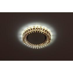 Светильник DK LD20 TEA/WH  декор cо светодиодной подсветкой Gx53, прозрачный ЭРА