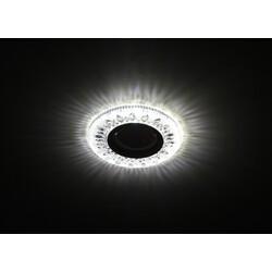 Светильник DK LD9 SL/WH  декор cо светодиодной подсветкой MR16, прозрачный ЭРА