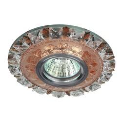 Светильник DK LD17 SL PK/WH декор cо светодиодной подсветкой MR16, прозрачный розовый  ЭРА