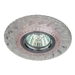 Светильник DK LD18 SL PK/WH декор cо светодиодной подсветкой MR16, прозрачный розовый  ЭРА