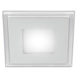 Светильник светодиодный LED 4-6 BL  квадратный c cиней подсветкой LED 6W 540LM 220V 4000K ЭРА