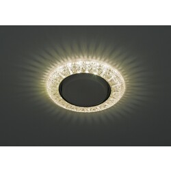 Светильник DK LD22  CHP/WH  декор cо светодиодной подсветкой GX3, шампаньЭРА