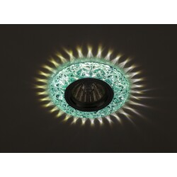 Светильник DK LD4 BL/WH  декор cо светодиодной подсветкой MR16, голубой  ЭРА