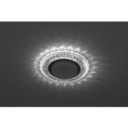 Светильник DK LD23 SL/WH  декор cо светодиодной подсветкой Gx53, прозрачный ЭРА