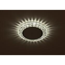Светильник DK LD24 SL/WH  декор cо светодиодной подсветкой Gx53, прозрачный ЭРА