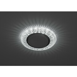 Светильник DK LD22 SL/WH  декор cо светодиодной подсветкой Gx53, прозрачный ЭРА