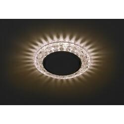 Светильник DK LD24  CHP/WH  декор cо светодиодной подсветкой GX3, шампаньЭРА