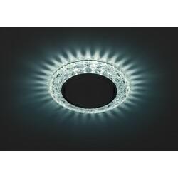 Светильник DK LD24 BL/WH  декор cо светодиодной подсветкой Gx53, голубой  ЭРА