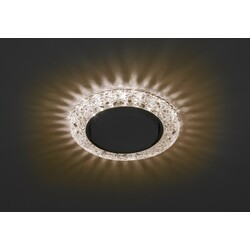 Светильник DK LD25  CHP/WH  декор cо светодиодной подсветкой GX3, шампаньЭРА
