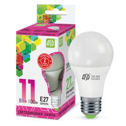 Лампа светодиодная LED-A60-standard 11Вт 160-260В Е27 6500К 990Лм ASD