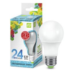 Лампа светодиодная LED-A65-standard 24Вт 160-230В  Е27 4000К 2160Лм ASD