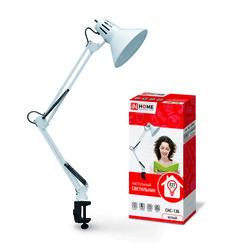 Светильник настольный под лампу СНС-13С на струбцине 60Вт E27 СЕРЕБРО (коробка) IN HOME