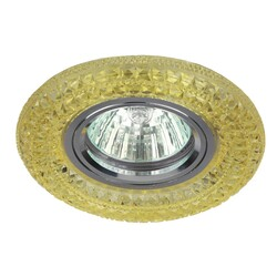 Светильник DK LD3 YL/WH  декор c белой cо светодиодной подсветкой MR16, желтый  ЭРА