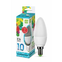 Лампа светодиодная LED-СВЕЧА-standard 10Вт 230В Е14 4000К 900Лм ASD
