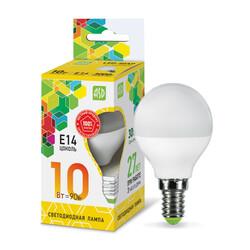 Лампа светодиодная LED-ШАР-standard 10Вт 230В  Е14 3000К 900Лм ASD