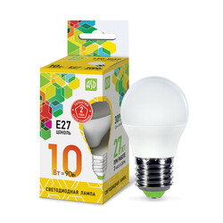 Лампа светодиодная LED-ШАР-standard 10Вт 230В  Е27 3000К 900Лм ASD