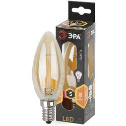 Лампа светодиодная  F-LED B35-5w-827-E14 gold  ЭРА
