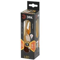 Лампа светодиодная  F-LED B35-7w-827-E14 gold  ЭРА