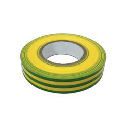 Изолента ПВХ 15мм 20м жёлто-зеленая (10шт) IN HOME