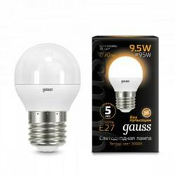 Светодиодная лампа  LED Шар E27 9.5W 950lm 4100K GAUSS BLACK