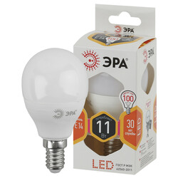 Лампа светодиодная  LED smd P45-11w-827-E14 ЭРА